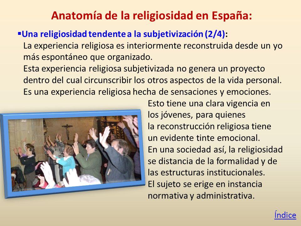 Anatomía de la religiosidad en España: Una religiosidad tendente a la subjetivización (2/4): La experiencia religiosa es interiormente reconstruida desde un yo más espontáneo que organizado.