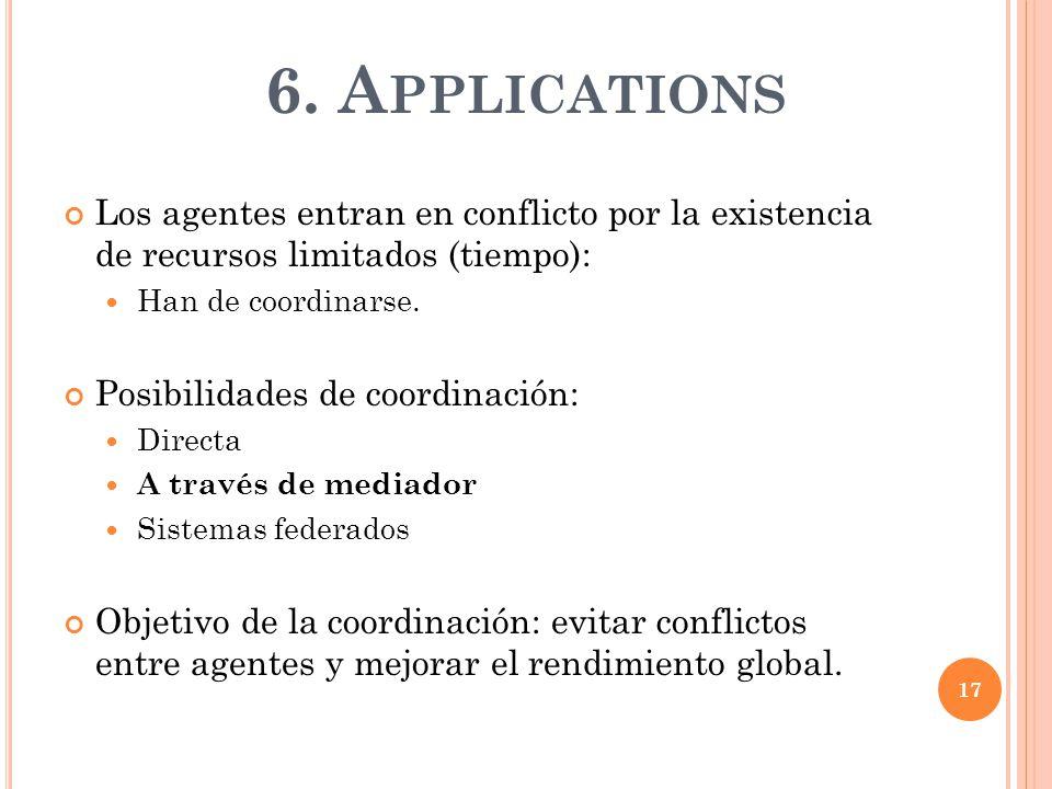 Los agentes entran en conflicto por la existencia de recursos limitados (tiempo): Han de coordinarse.