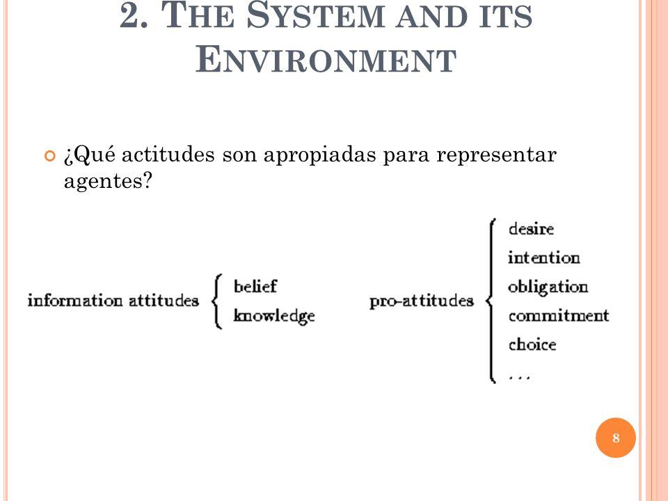 ¿Qué actitudes son apropiadas para representar agentes 2. T HE S YSTEM AND ITS E NVIRONMENT 8