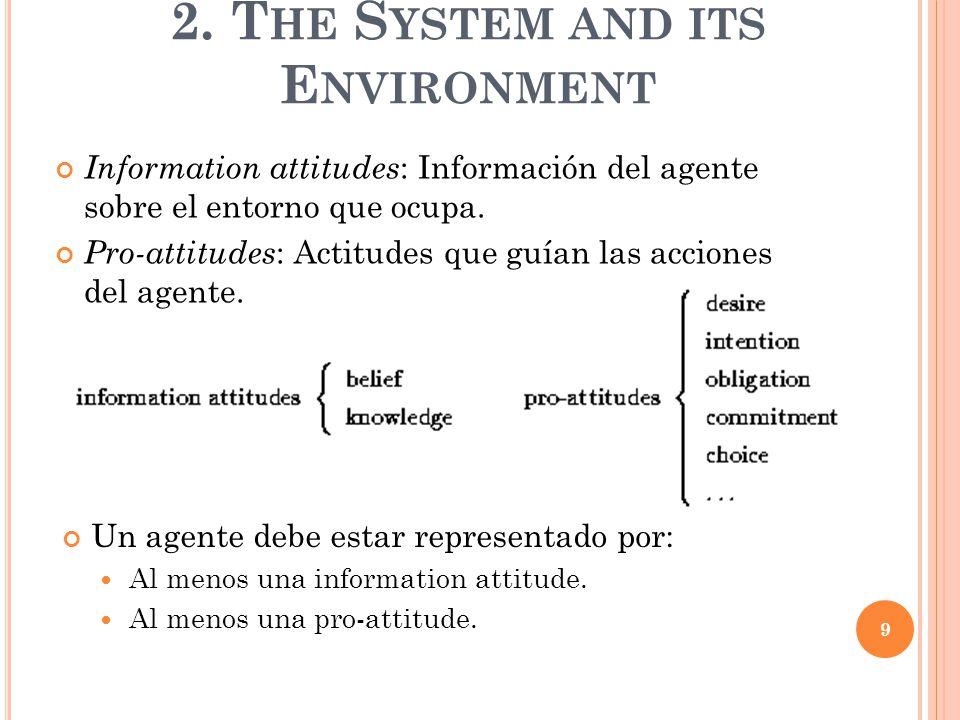 Un agente debe estar representado por: Al menos una information attitude.