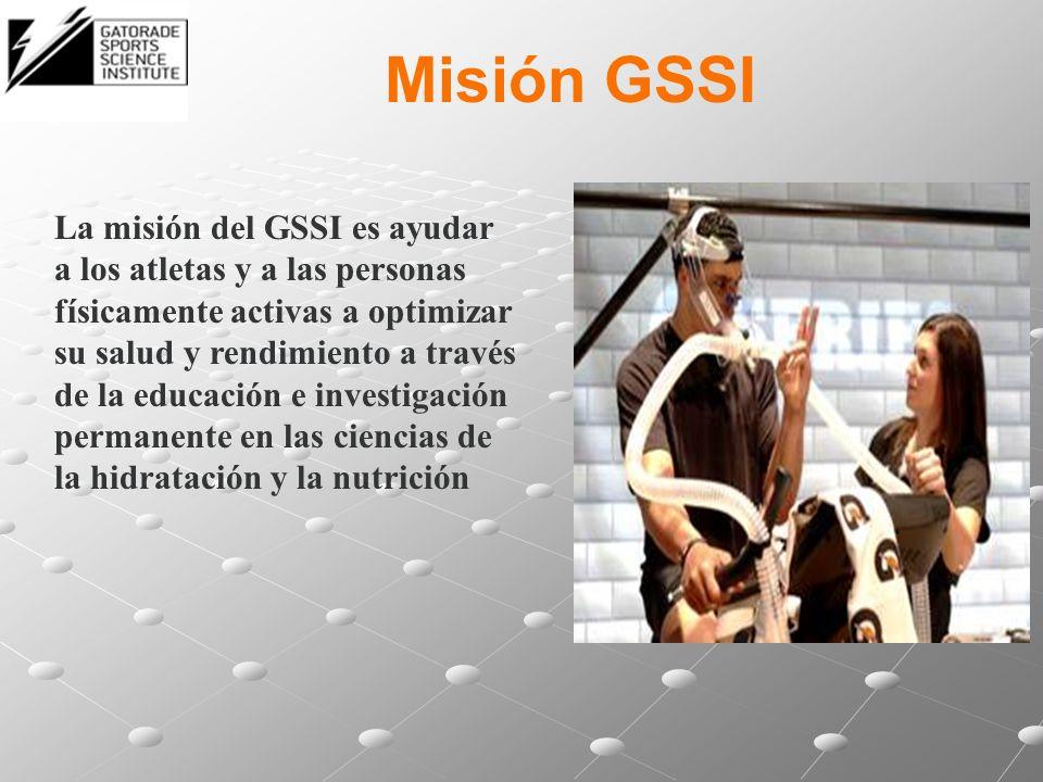 Misión GSSI La misión del GSSI es ayudar a los atletas y a las personas físicamente activas a optimizar su salud y rendimiento a través de la educació