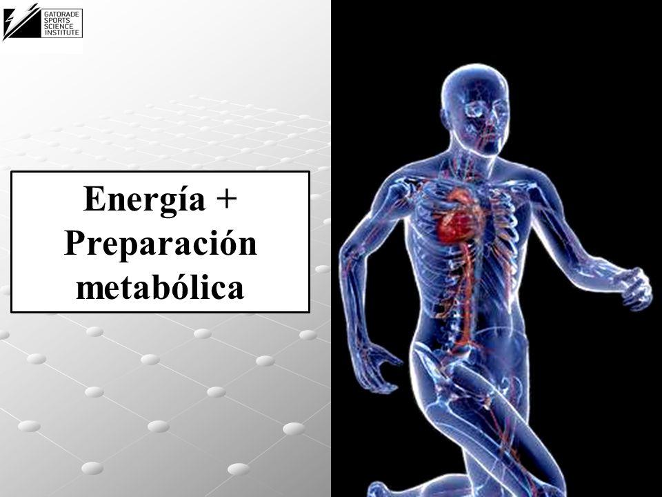 Energía + Preparación metabólica