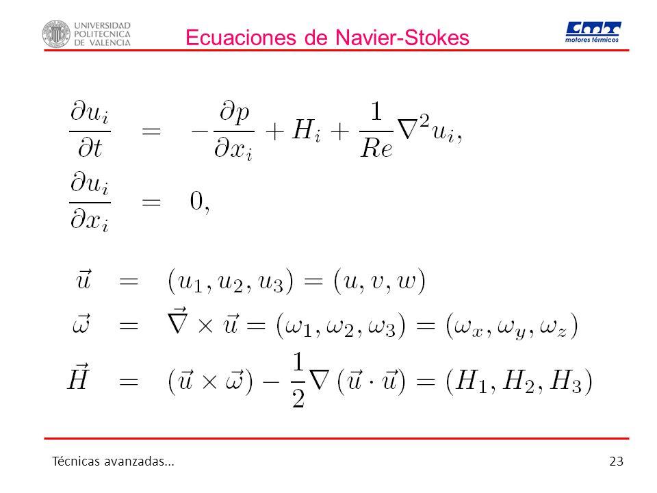 Ecuaciones de Navier-Stokes Técnicas avanzadas...23