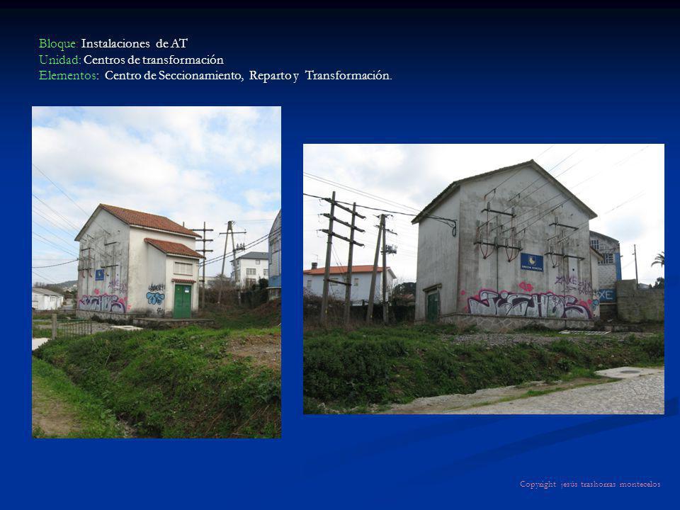 Bloque: Instalaciones de AT Unidad: Centros de transformación Elementos: Centro de Seccionamiento, Reparto y Transformación. Copyright jesús trashorra