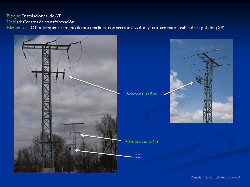 Bloque: Instalaciones de AT Unidad: Centros de transformación Elementos: CT intemperie alimentado por una línea con seccionalizador y cortacircuito fu