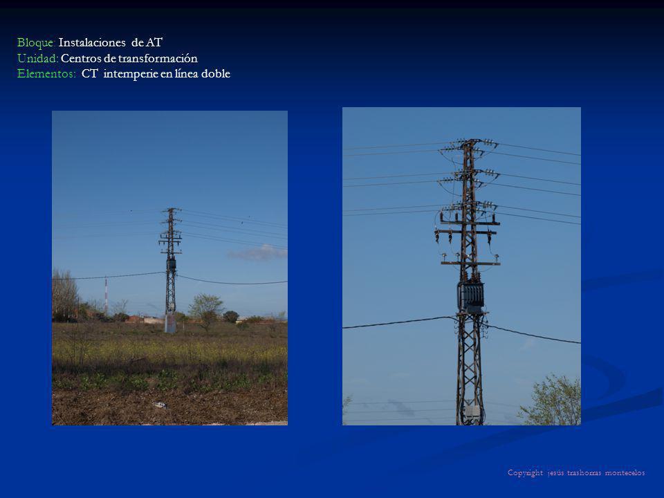 Bloque: Instalaciones de AT Unidad: Centros de transformación Elementos: CT intemperie en línea doble Copyright jesús trashorras montecelos