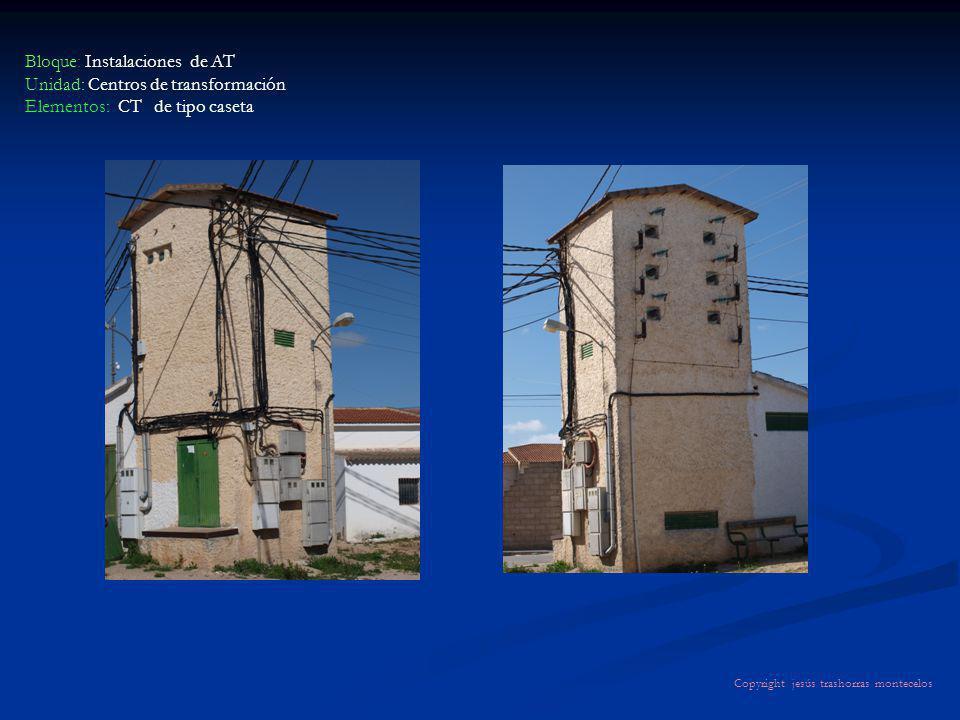 Bloque: Instalaciones de AT Unidad: Centros de transformación Elementos: CT de tipo caseta Copyright jesús trashorras montecelos