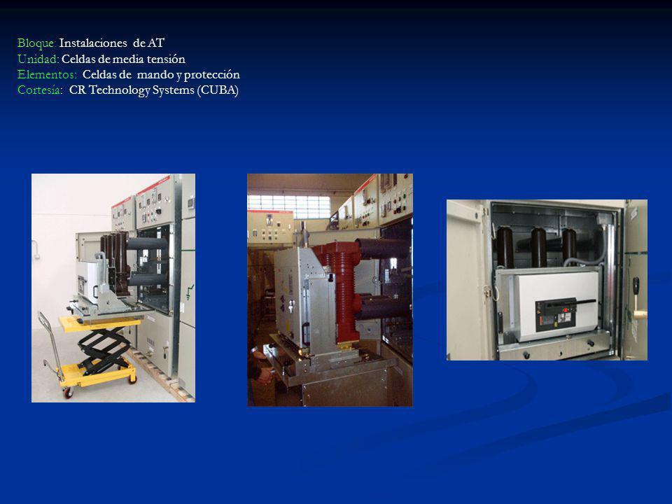 Bloque: Instalaciones de AT Unidad: Celdas de media tensión Elementos: Celdas de mando y protección Cortesía: CR Technology Systems (CUBA)