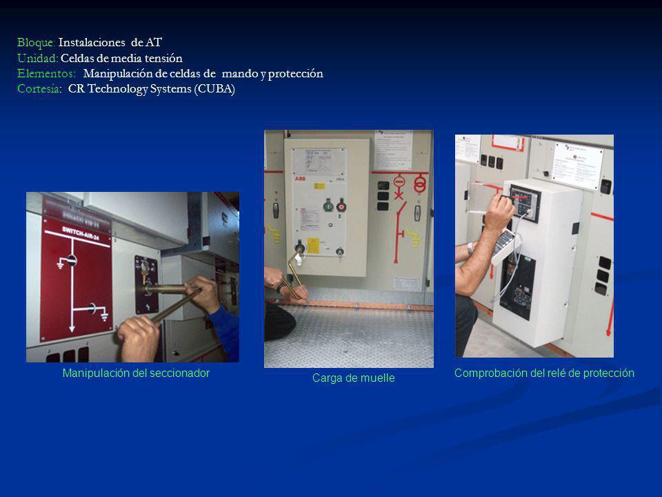 Bloque: Instalaciones de AT Unidad: Celdas de media tensión Elementos: Manipulación de celdas de mando y protección Cortesía: CR Technology Systems (C