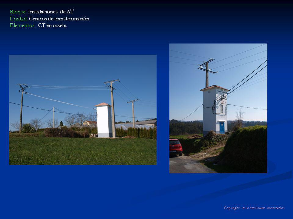 Bloque: Instalaciones de AT Unidad: Centros de transformación Elementos: CT en caseta Copyright jesús trashorras montecelos