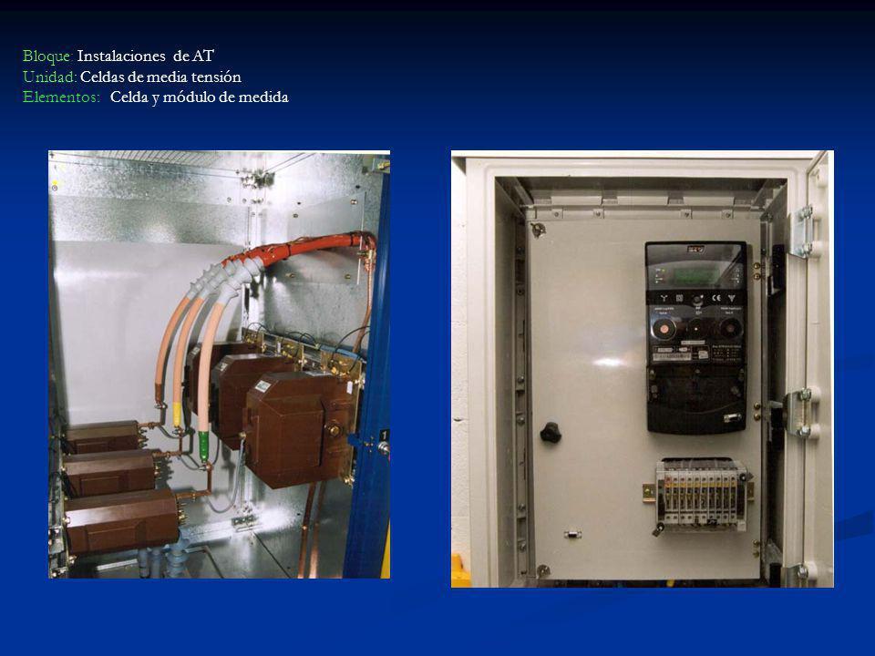 Bloque: Instalaciones de AT Unidad: Celdas de media tensión Elementos: Celda y módulo de medida