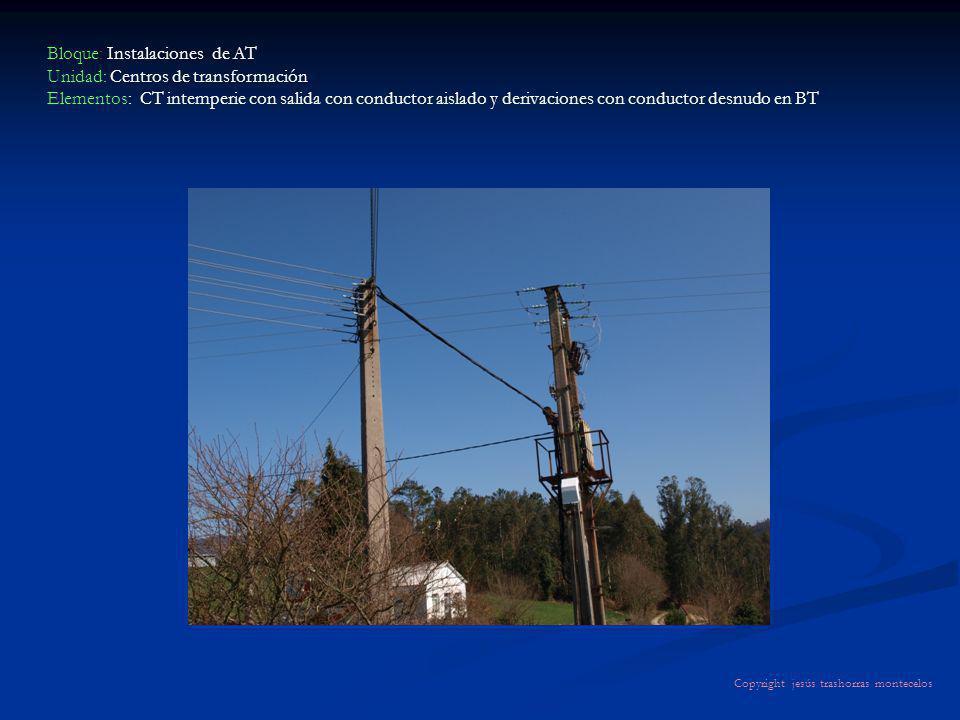 Bloque: Instalaciones de AT Unidad: Centros de transformación Elementos: CT intemperie con salida con conductor aislado y derivaciones con conductor d