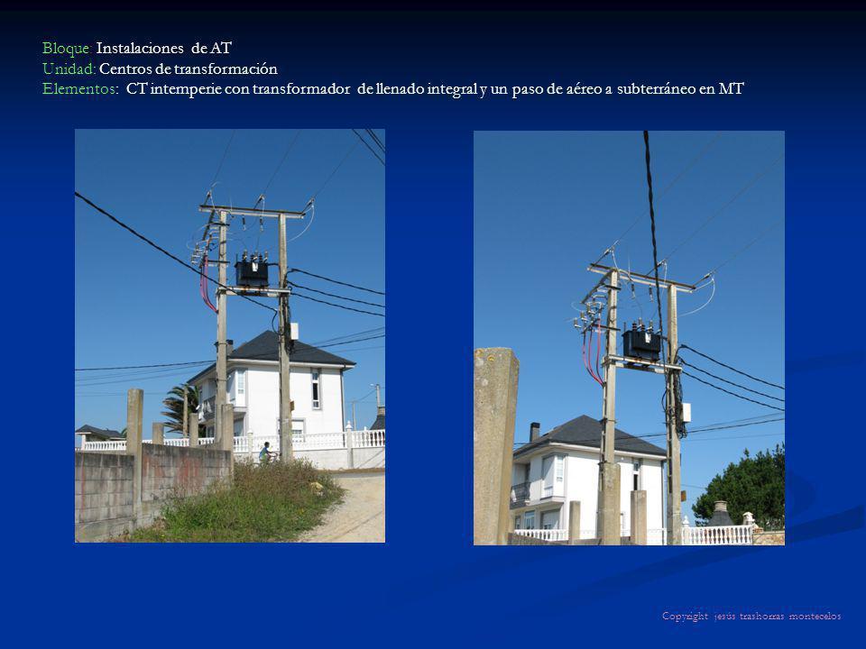 Bloque: Instalaciones de AT Unidad: Centros de transformación Elementos: CT intemperie con transformador de llenado integral y un paso de aéreo a subt