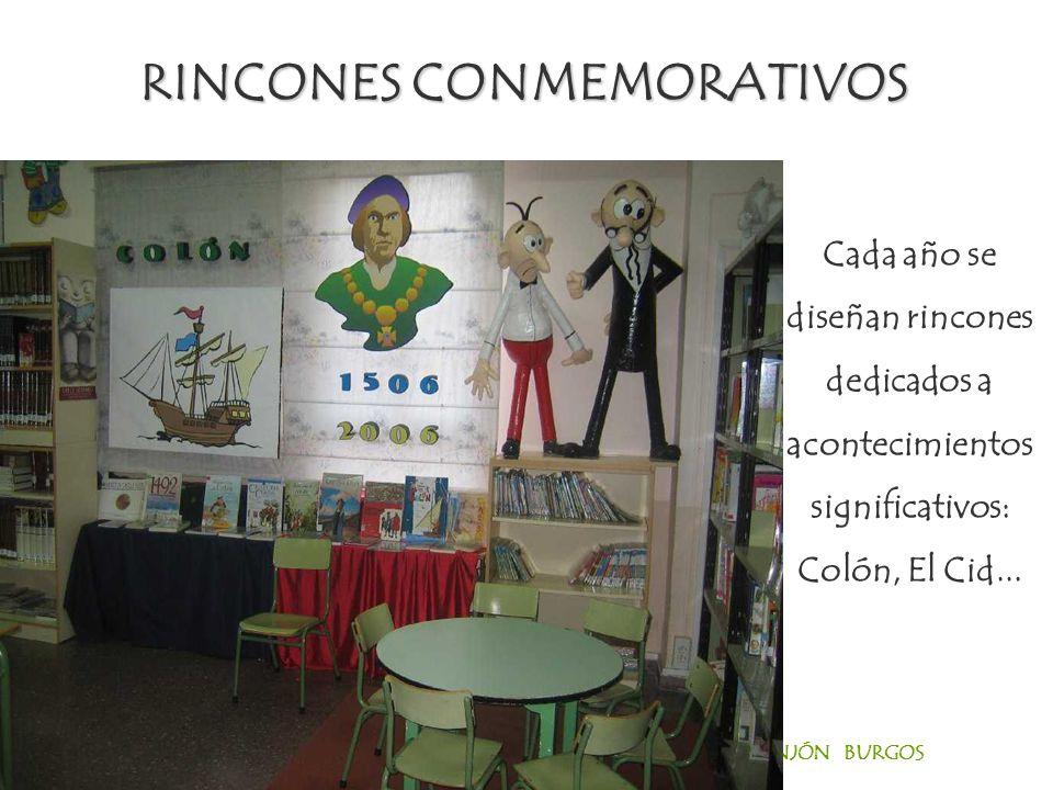 CEIP PADRE MANJÓN BURGOS Cada año se diseñan rincones dedicados a acontecimientos significativos: Colón, El Cid...