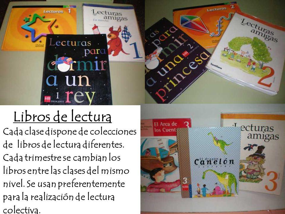 CEIP PADRE MANJÓN BURGOS Cada clase dispone de colecciones de libros de lectura diferentes.
