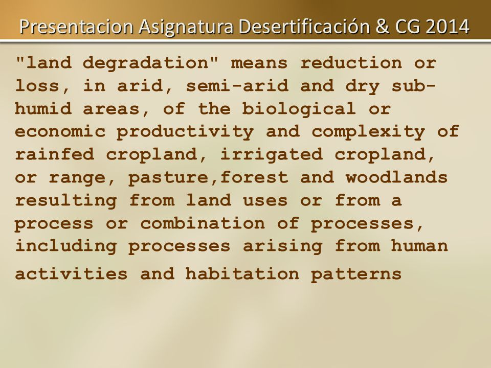 Presentation & paradigms MCG 2014desertification END