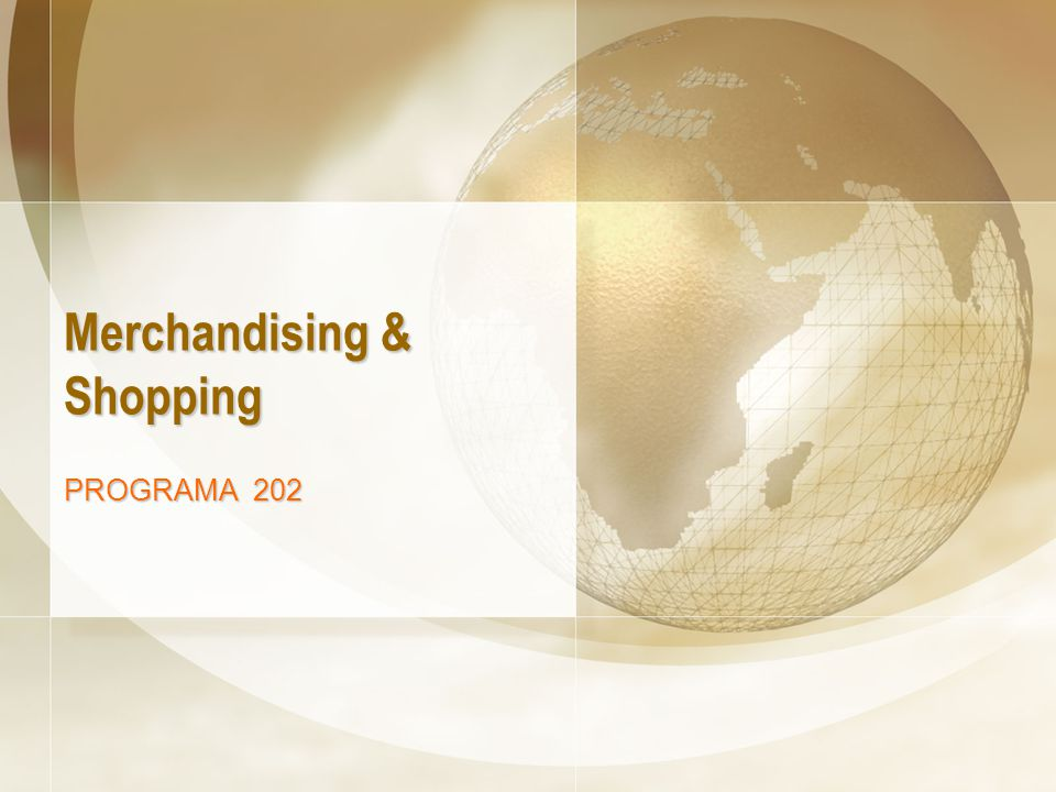 Merchandising & Shopping PROGRAMA 202