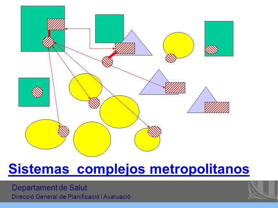 Sistemas complejos metropolitanos Departament de Salut Direcció General de Planificació i Avaluació