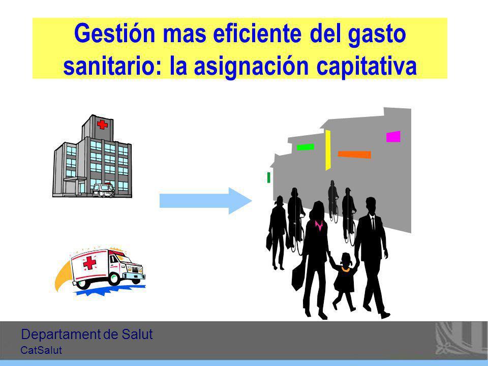 Gestión mas eficiente del gasto sanitario: la asignación capitativa Departament de Salut CatSalut