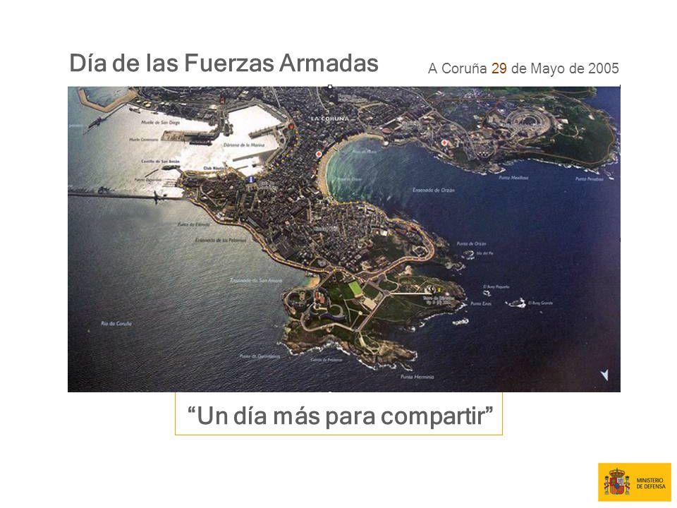 Día de las Fuerzas Armadas A Coruña 29 de Mayo de 2005 Un día más para compartir