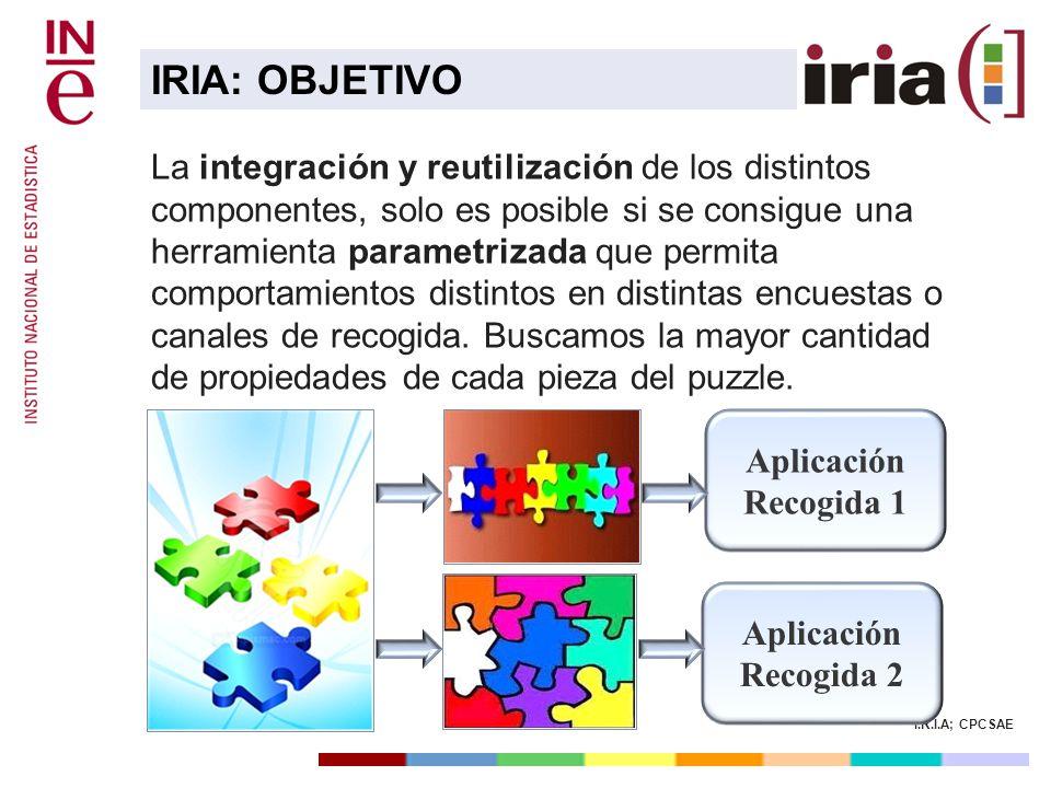 I.R.I.A; CPCSAE La integración y reutilización de los distintos componentes, solo es posible si se consigue una herramienta parametrizada que permita