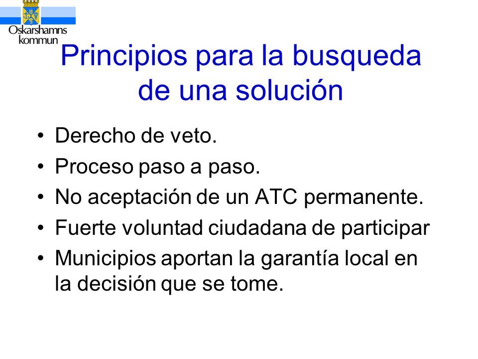Principios para la busqueda de una solución Derecho de veto.
