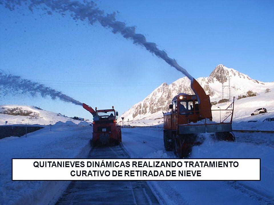 QUITANIEVES DINÁMICAS REALIZANDO TRATAMIENTO CURATIVO DE RETIRADA DE NIEVE