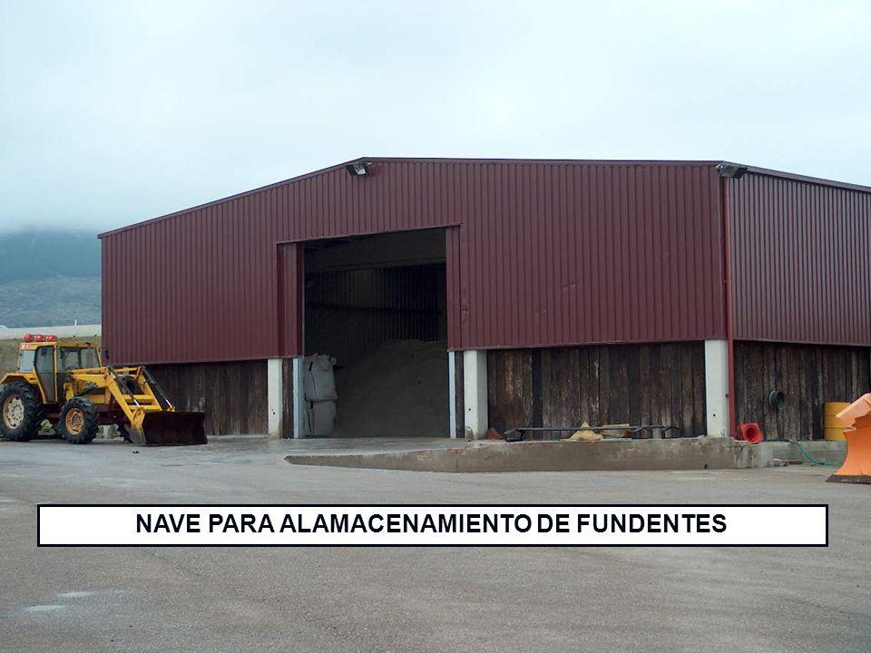 NAVE PARA ALAMACENAMIENTO DE FUNDENTES