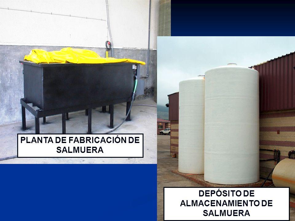 PLANTA DE FABRICACIÓN DE SALMUERA DEPÓSITO DE ALMACENAMIENTO DE SALMUERA