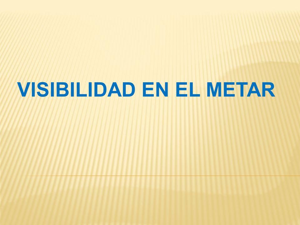 VISIBILIDAD EN EL METAR