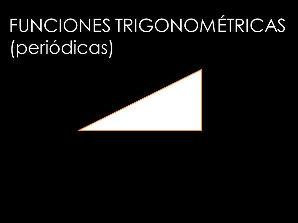 FUNCIONES TRIGONOMÉTRICAS (periódicas)