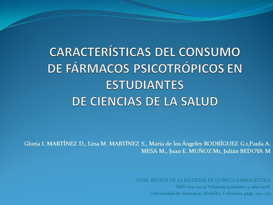 VITAE, REVISTA DE LA FACULTAD DE QUÍMICA FARMACÉUTICA ISSN 0121-4004 Volumen 15 número 2, año 2008. Universidad de Antioquia, Medellín, Colombia. págs