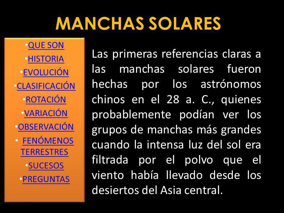 Una mancha solar es una región del Sol con una temperatura más baja que sus alrededores, y con una intensa actividad magnética. Una mancha solar típic