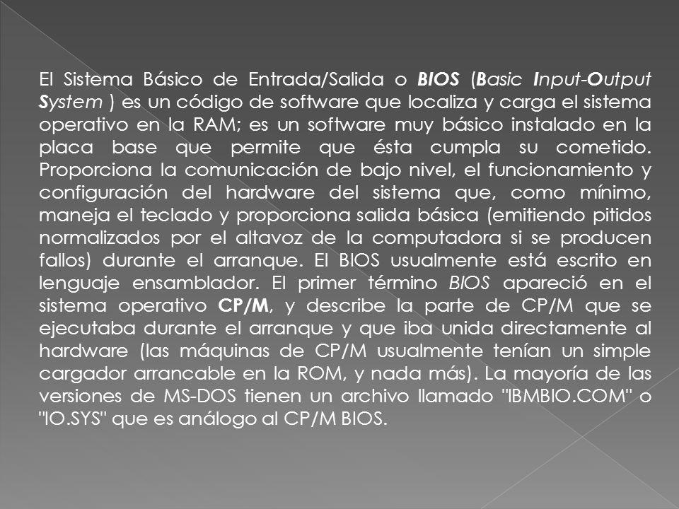 CP/M ( C ontrol P rogram/ M onitor) es un sistema operativo desarrollado por Gary Kildall para el microprocesador 8080/85 de Intel y el Z80 de Zilog.