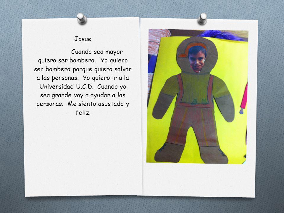 Jimena Cuando sea grande yo quiero ser una maestra. Yo quiero ser una maestra porque me gusta ayudar a los niños como leer y escribir. Para ser una ma