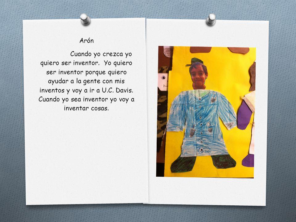 Arial Cuando sea grande yo quiero ser artista profesional. Yo quiero ser artista porque me encanta dibujar muchísimo. Al colegio que yo quiero ir es C