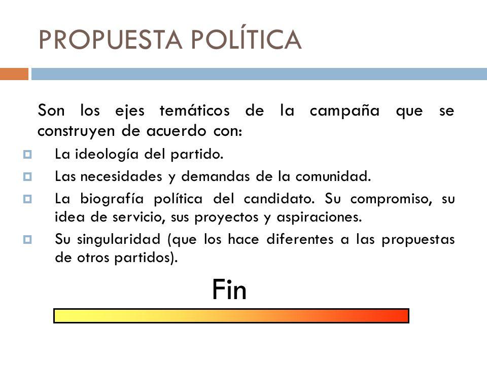DESARROLLO DE PRODUCTOS Propuesta política.Oferta, entregables Temas.