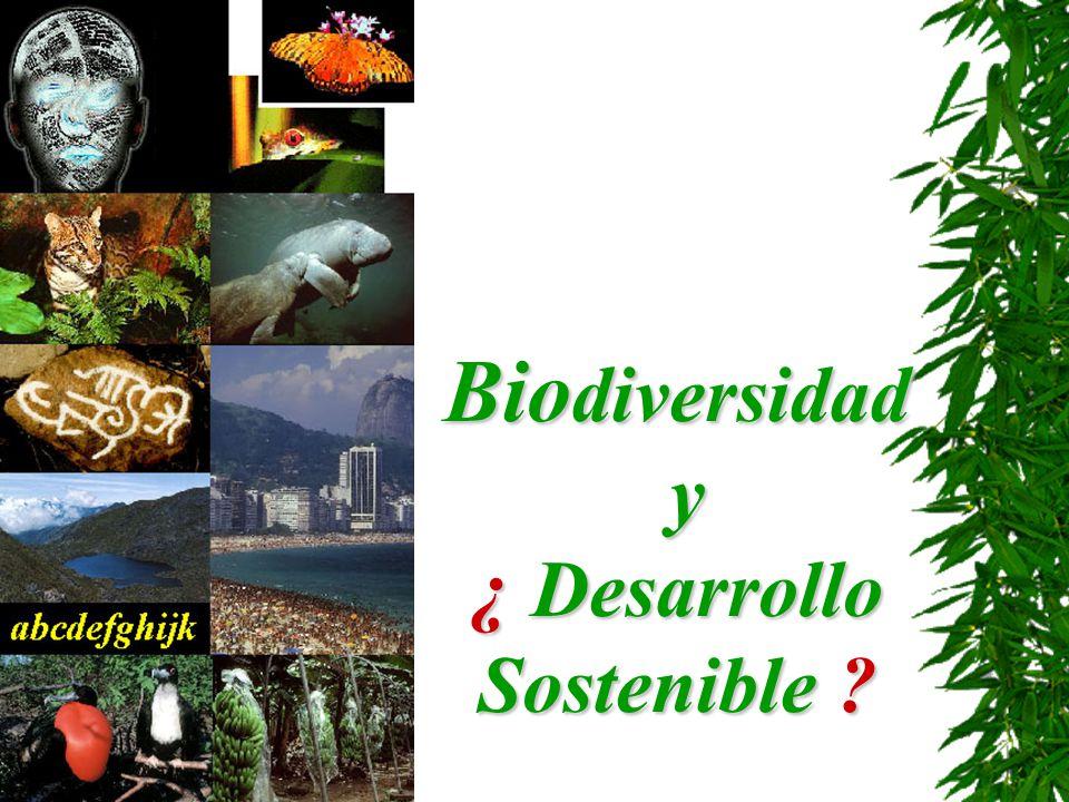 Bio diversidad y ¿ Desarrollo Sostenible ?