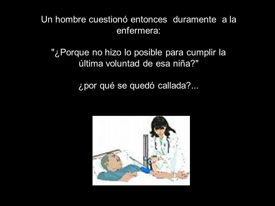 La enfermera se quedó callada, como una estatua. Minutos después, Jenny… también murió.