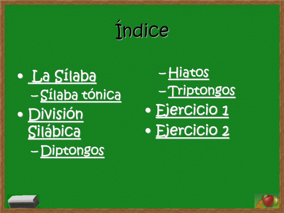 ¿ Estas seguro?.. Haz click para repasar los términos claves de la división silábica.click volver