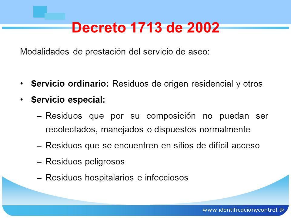Casos especiales: Los residuos de barrido no podrán permanecer en las calles por más de doce (12) horas.