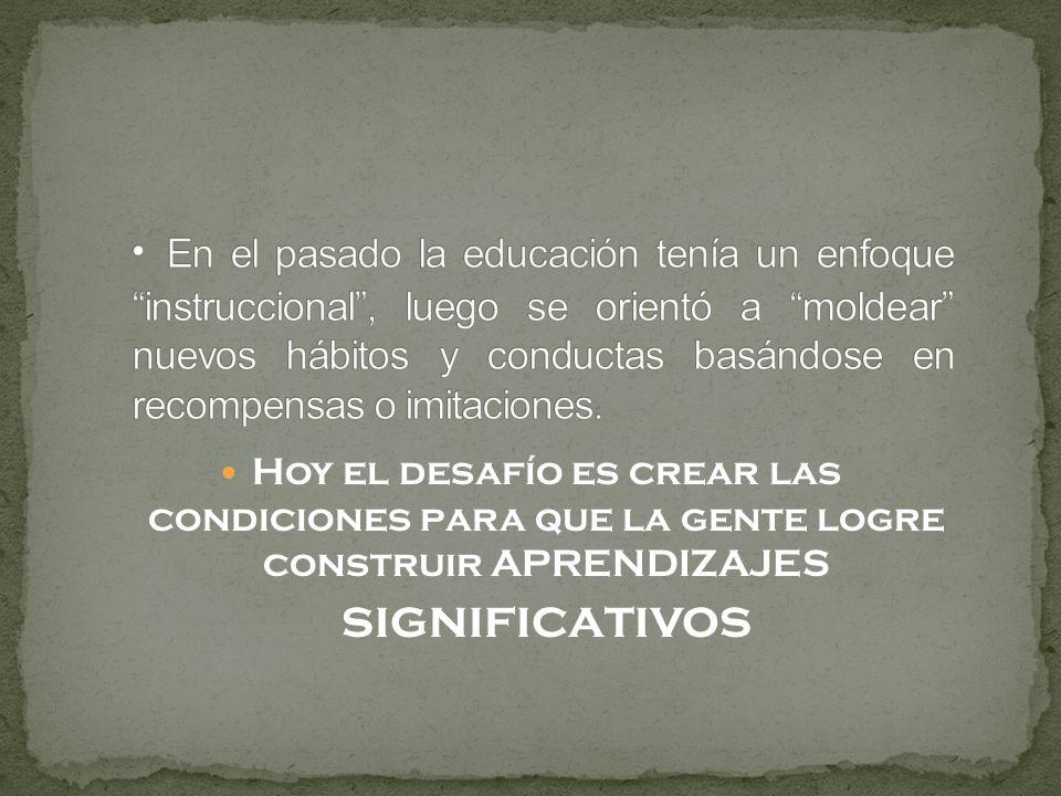 La Educación no constituye una serie de procedimientos que puedan adoptarse de una vez. Es un proceso lento, en constante evolución, mediante el cual