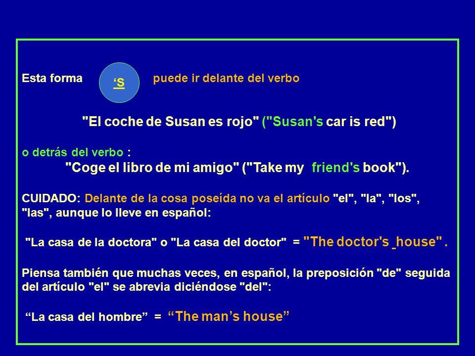 EL CASO POSESIVO (O GENITIVO SAJÓN) Forma abreviada de expresar posesión: