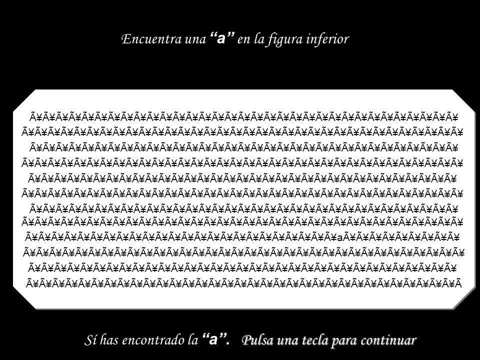 9999999999999999999999999 999999999999999999999999999999 999999999999999999999999999999 99999 9999999996999999999999999 99999 9999999999999999999999999 99999 9999999999999999999999999 99999 Encuentra un 6 en la figura inferior Pulsa una tecla para continuar Sí has encontrado el 6.