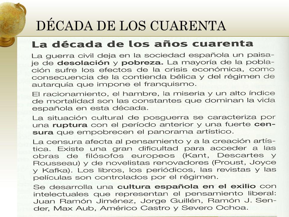 DÉCADA DE LOS CUARENTA