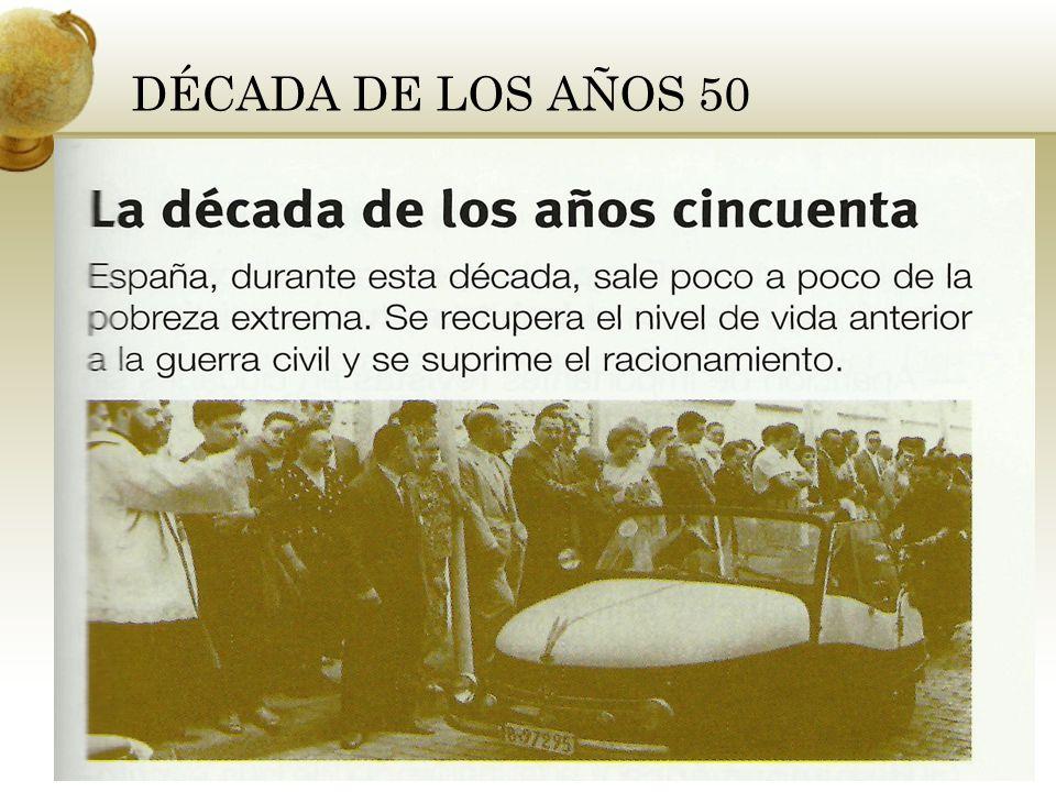 DÉCADA DE LOS AÑOS 50