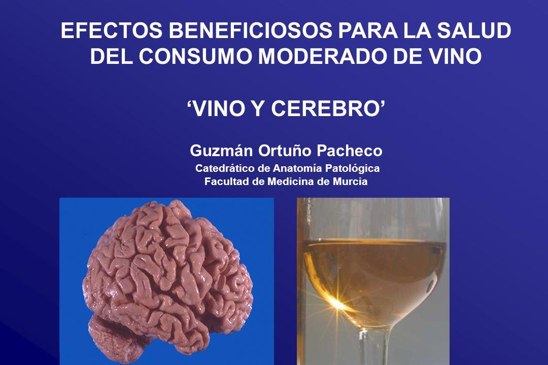 Efectos beneficiosos del consumo moderado de vino 1.
