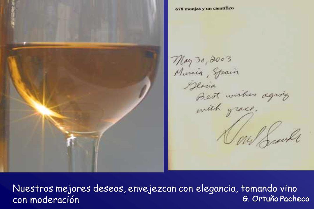 G. Ortuño Pacheco Nuestros mejores deseos, envejezcan con elegancia, tomando vino con moderación