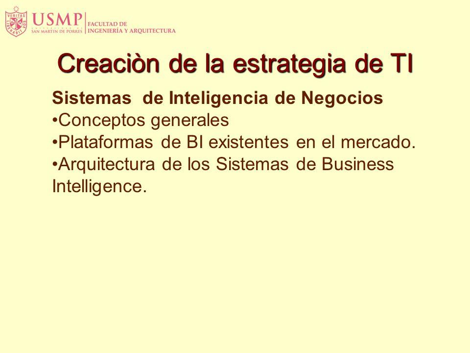 Sistemas de Inteligencia de Negocios Conceptos generales Plataformas de BI existentes en el mercado.