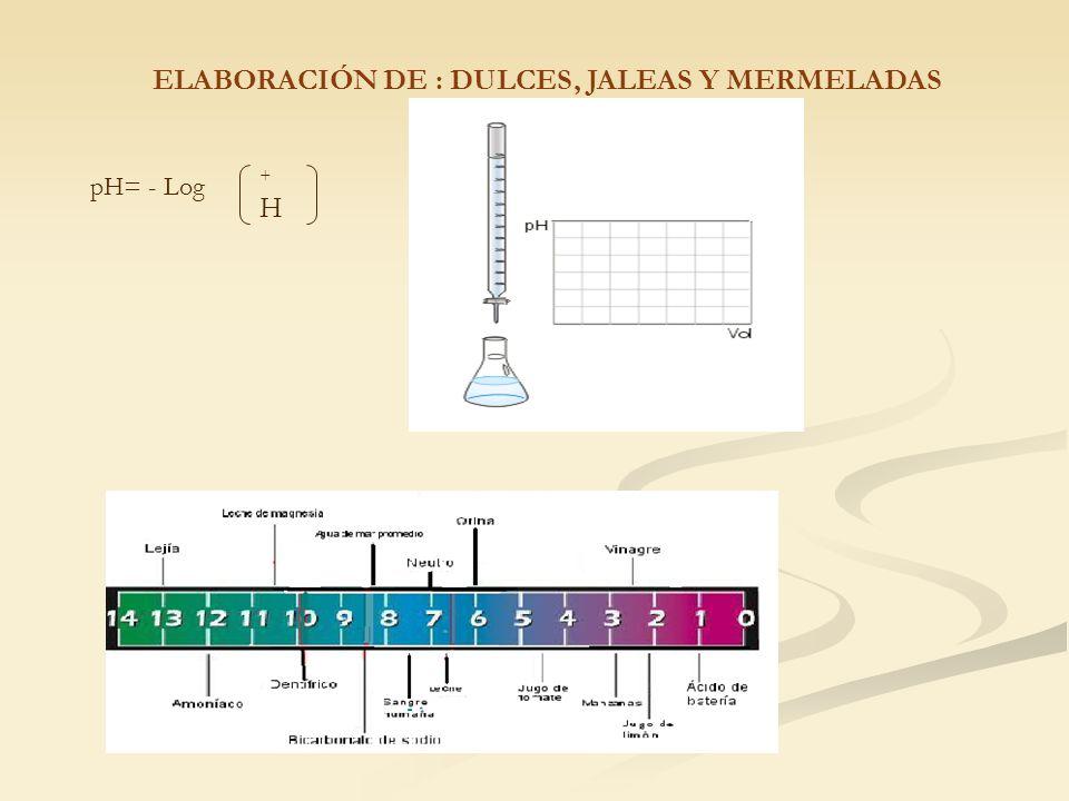 pH= - Log +H+H